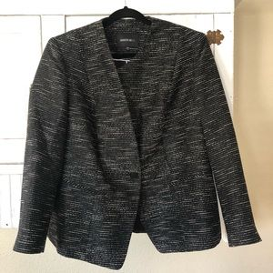 Lafayette 148 Black Textured Suit Jacket 14W